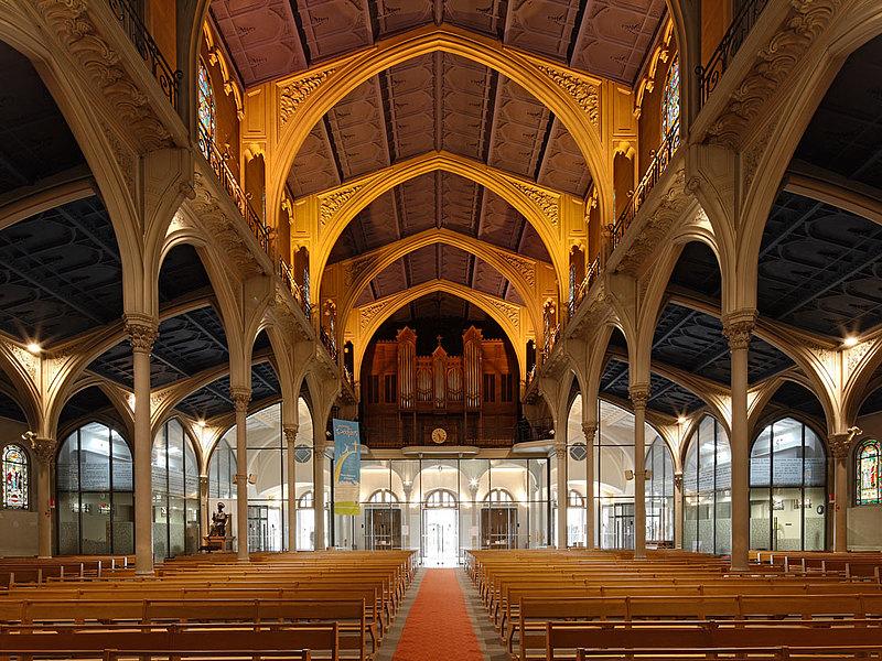 Türen für Branschutz und Rauchschutz E30 und Verglasungen, forster presto und forster thermfix light Kirche Saint Honoré d'Eylau, Paris