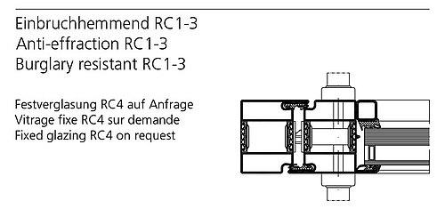Wärmegedämmte Stahltür mit Einbruchhemmung, forster unico
