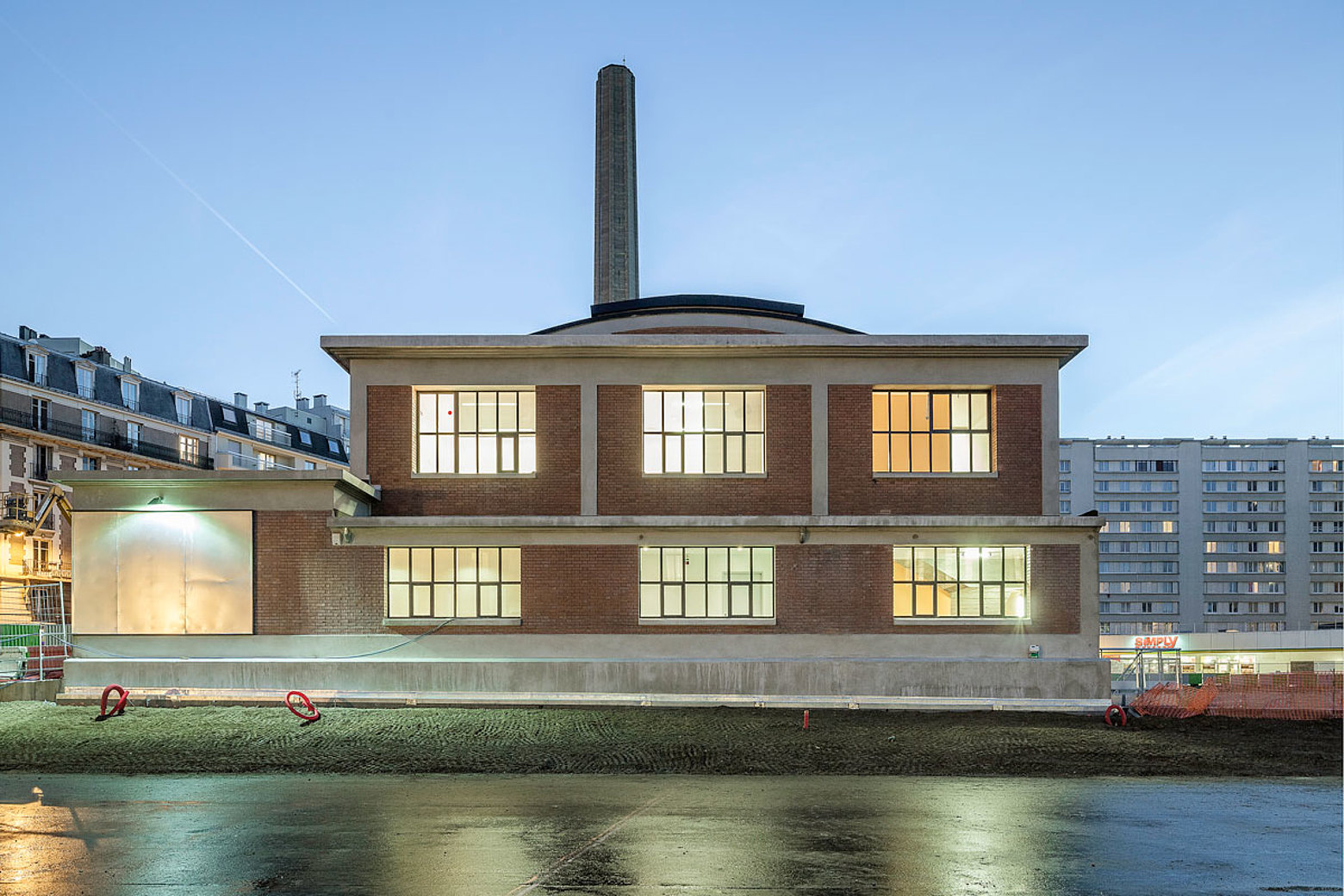 Renovated historic industry building