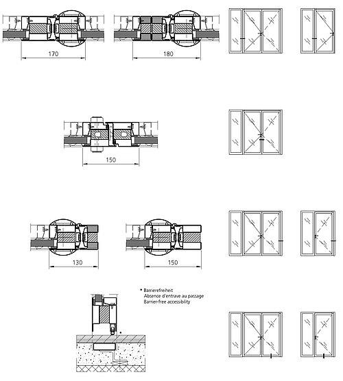 Variants fire-resistant finger-protection door