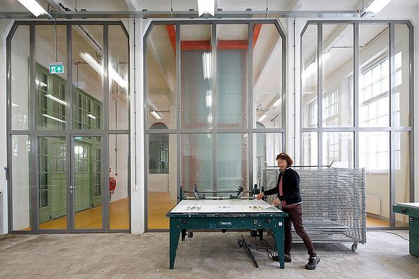 fire-rated glazed doors and glazing EW60 in steel, forster presto. Willem 2 fabriek, NL-Hertogenbosch