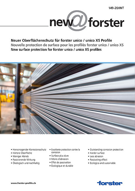 New surface protection for forster unico / forster unico XS