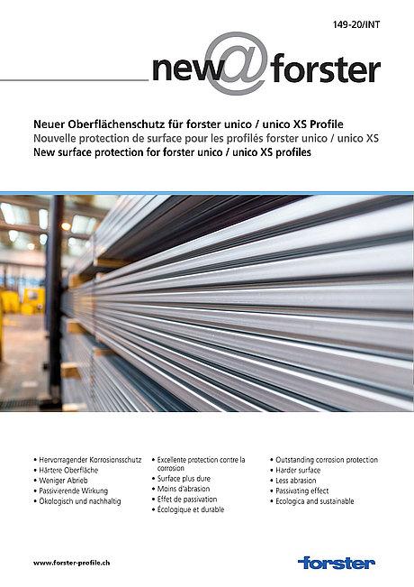 Neuer Oberflächenschutz für forster unico / forster unico XS Profile