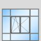 fenêtre à 2 vantaux en cloison