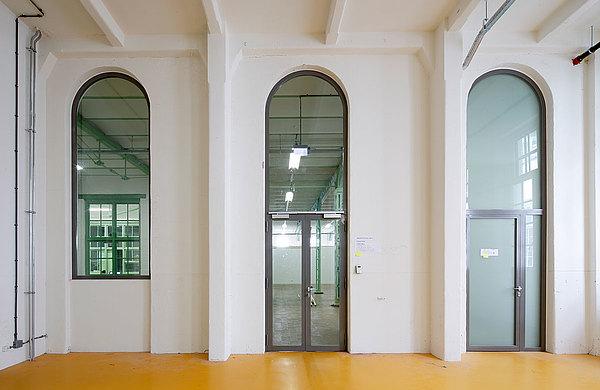 Brandschutztüren und Verglasungen EW60 in Stahl, forster presto. Willem 2 fabriek, NL-Hertogenbosch