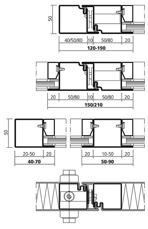 Profilsystem aus Stahl forster presto 50