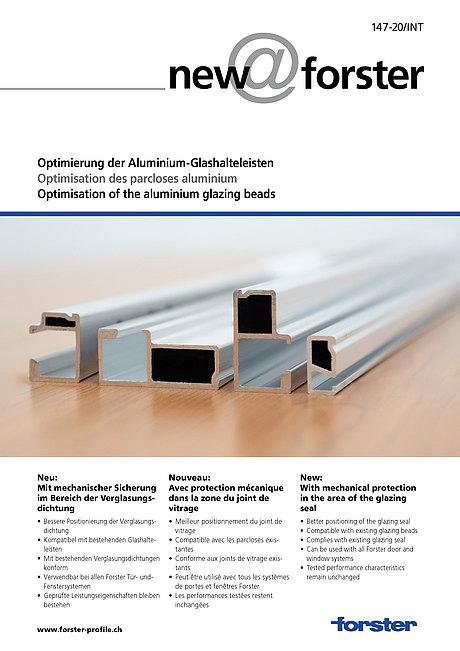 Optimierung der Aluminium-Glashalteleisten