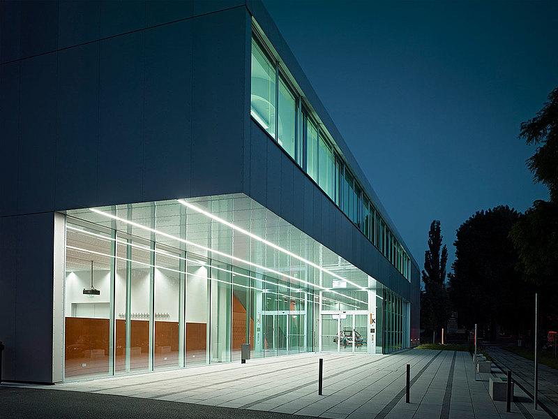 wärmegedämmte Vorhangfassade mit Aufsatzprofilen, forster thermfix light