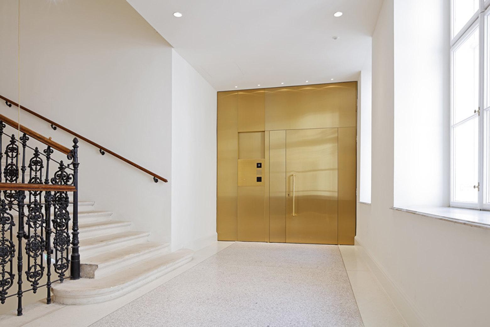 Fire-resistant door brass covered