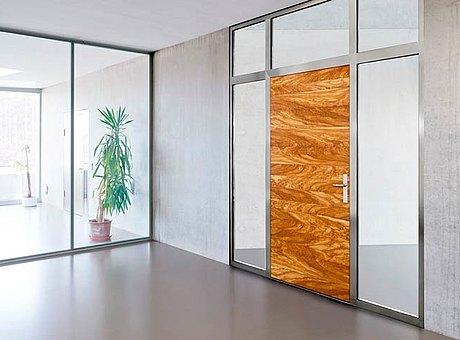 Brandschutztür aus Holz und Stahl, forster fuego light