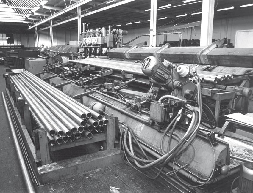 die Herstellung der Stahlrohre im Jahr 1930