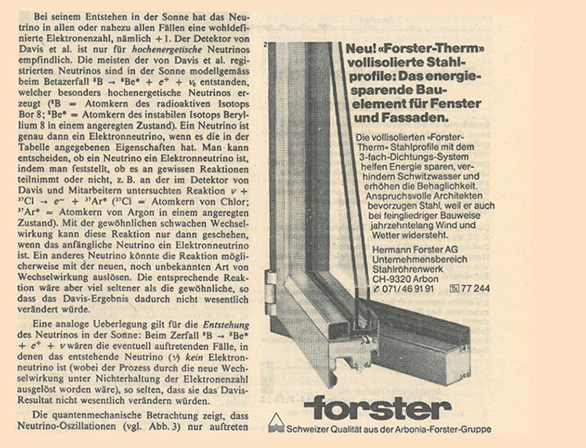 das neue Profilsystem forster therm wird eingeführt