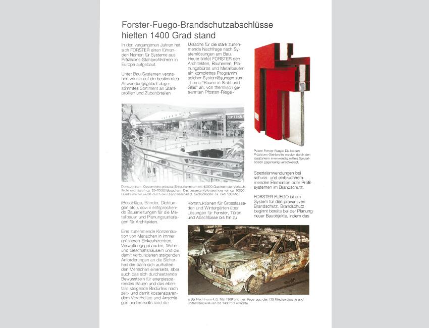 das neue Profilsystem forster fuego für Brandschutz wird eingeführt