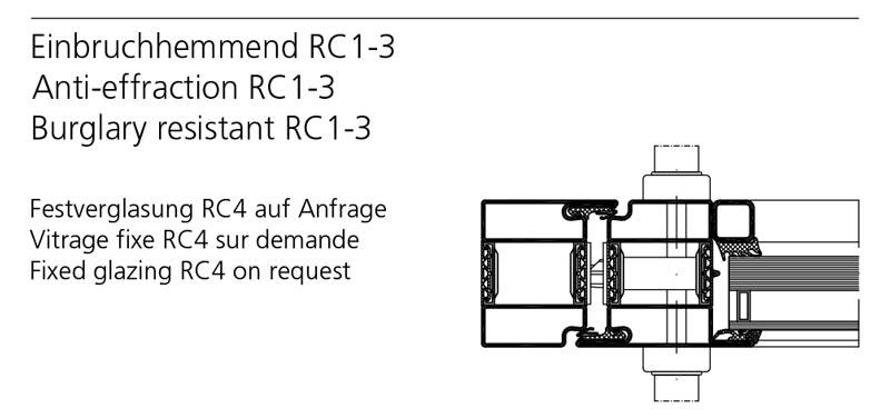 Einbruchhemmende tür  Einbruchhemmende Tür mit Wärmedämmung: Forster Profilsysteme AG, Arbon