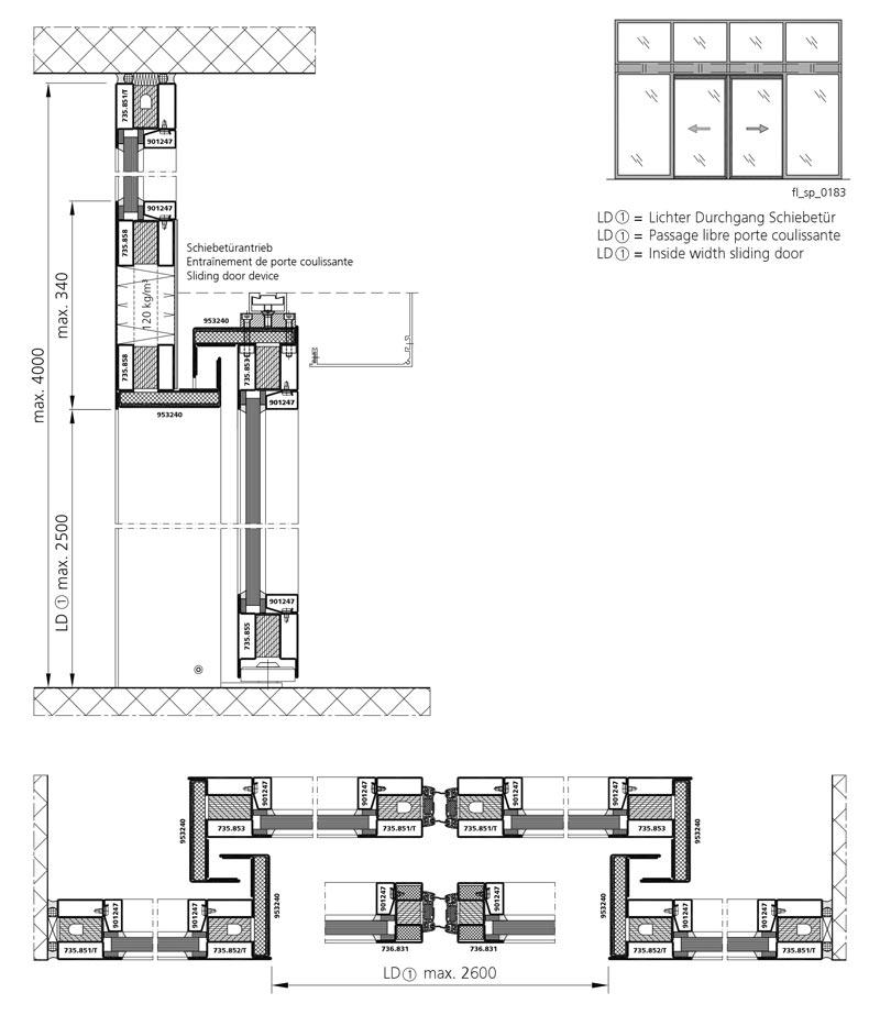Großartig Brandschutz-Schiebetür EI30: Forster Profilsysteme AG, Arbon ZO56