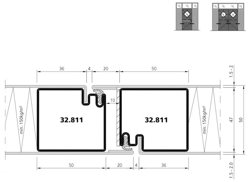 flush mounted sheet metal door e30 forster profilsysteme. Black Bedroom Furniture Sets. Home Design Ideas