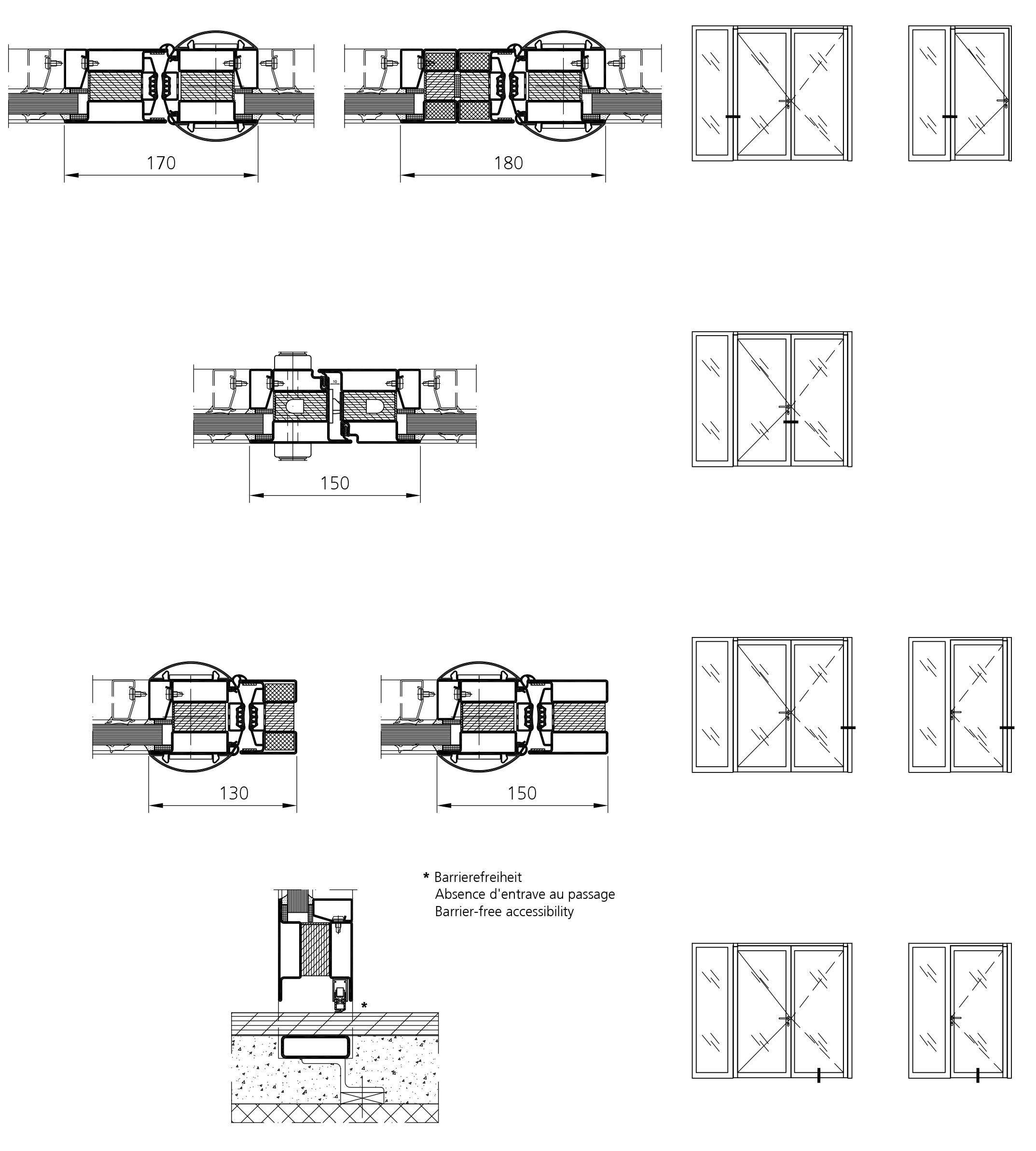 fire resistant door with finger protection forster profilsysteme ag arbon. Black Bedroom Furniture Sets. Home Design Ideas