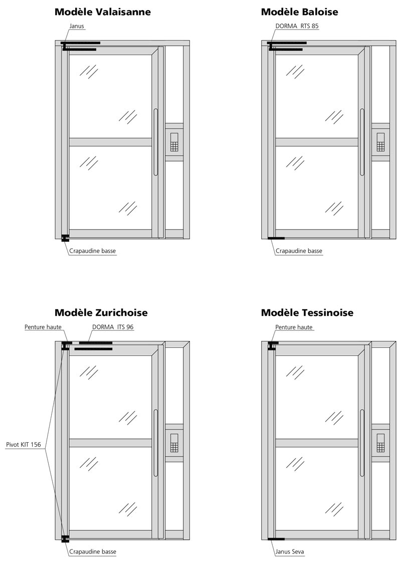 bloc porte d 39 entr e d 39 immeuble forster profilsysteme ag arbon. Black Bedroom Furniture Sets. Home Design Ideas