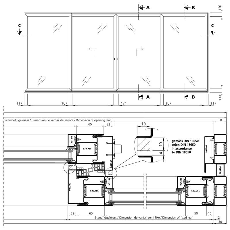 Lift Up Sliding Door With Thermal Break Forster
