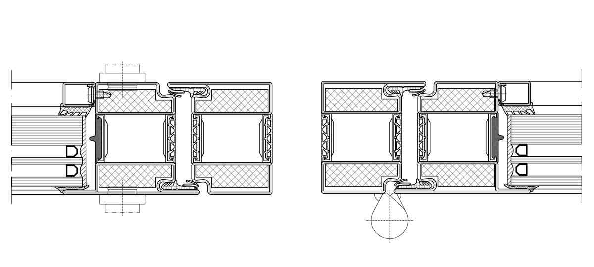 fire protection door with thermal break forster profilsysteme ag arbon. Black Bedroom Furniture Sets. Home Design Ideas